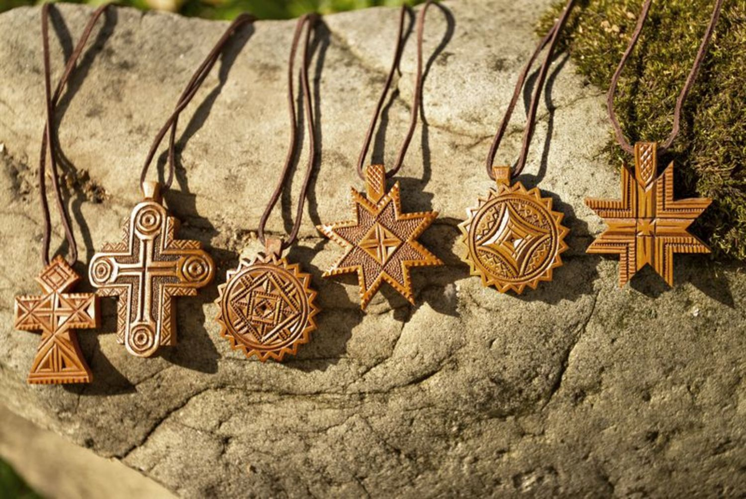 next to skin crosses Carved star cross - MADEheart.com