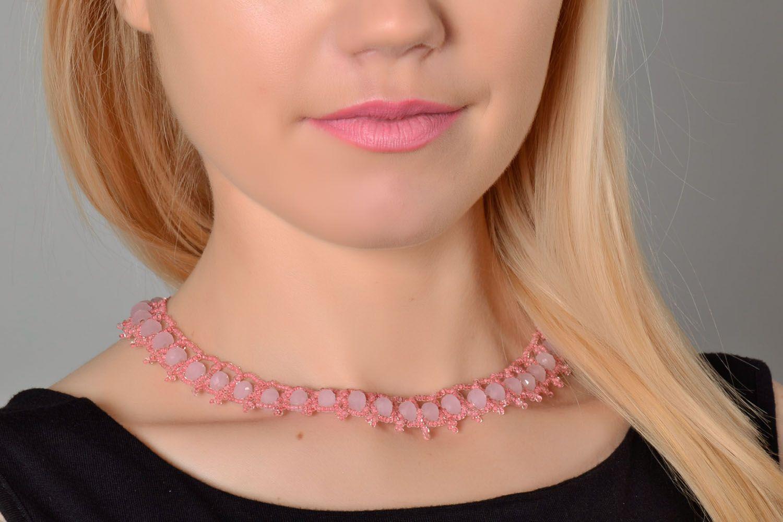 Плетеное ожерелье из бисера фото 1