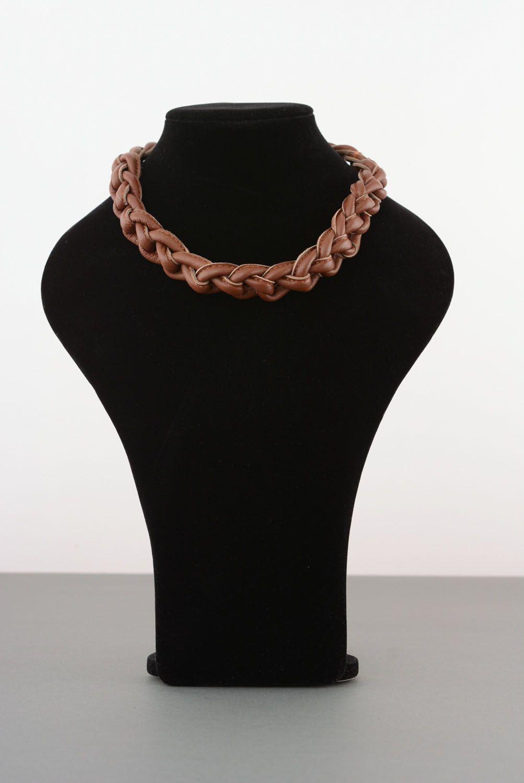 Armband und Collier aus Leder foto 1