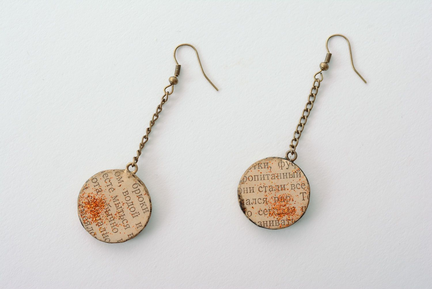 Long earrings made of polymer clay photo 3