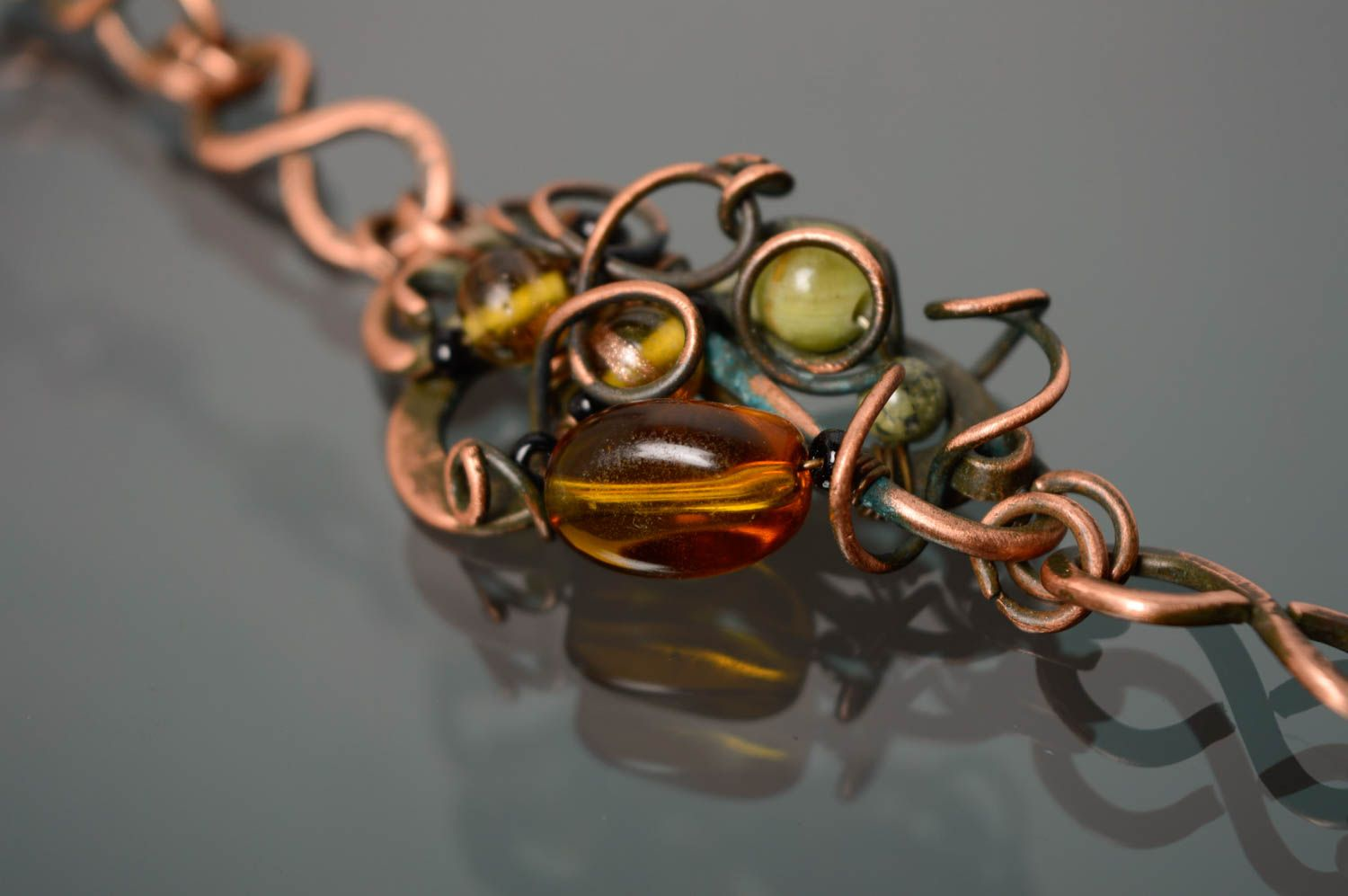 Wire wrap copper bracelet photo 5