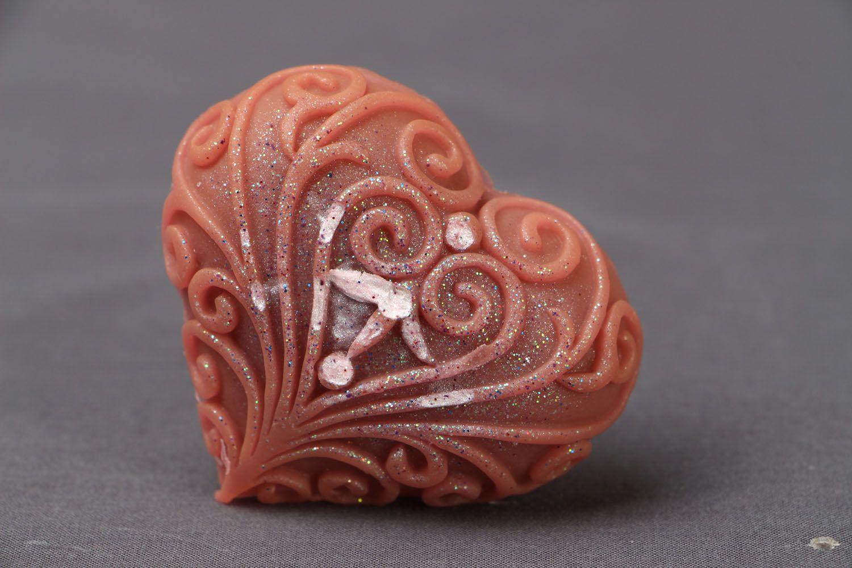 Natural heart-shaped soap photo 1