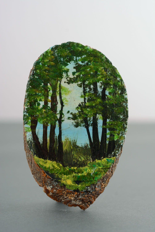 Fridge magnet with landscape photo 1