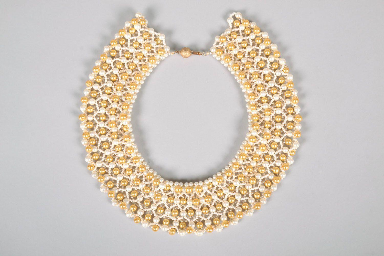 Multi-row beaded necklace photo 3