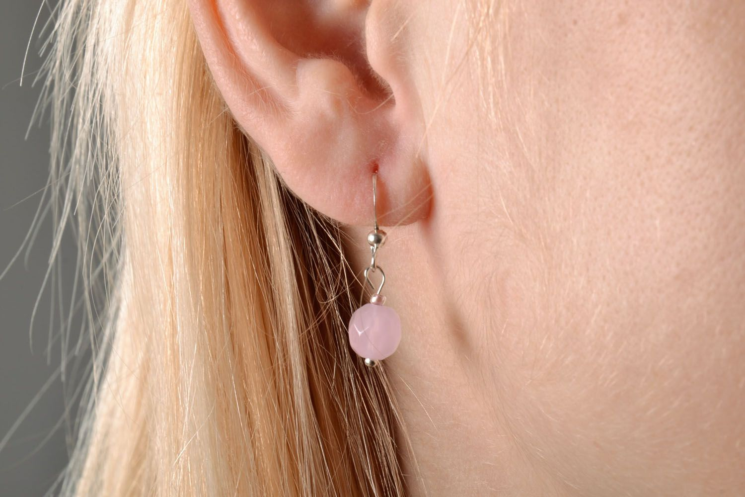 Neat earrings with charms photo 5