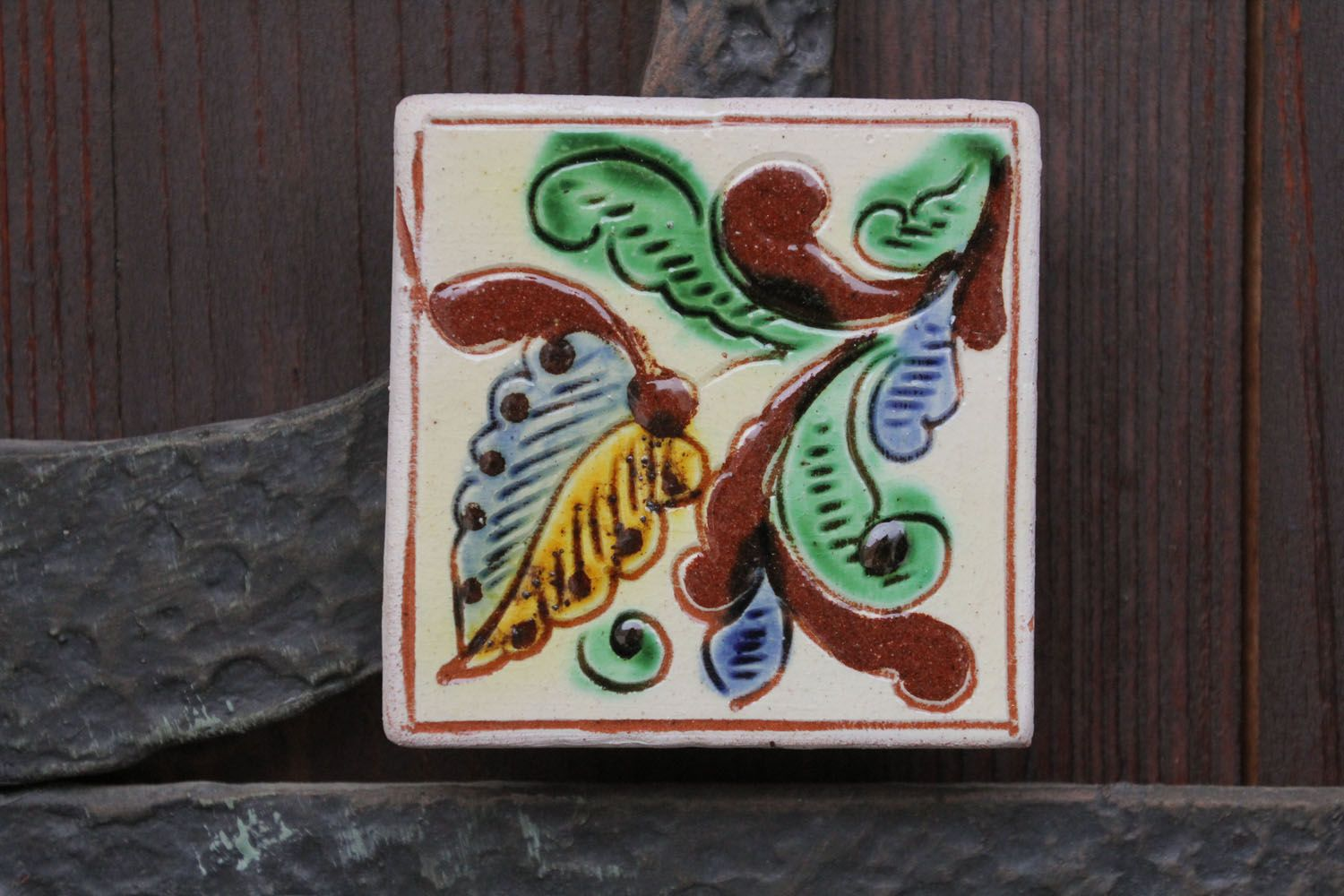 Homemade fridge magnet in ethnic style photo 1