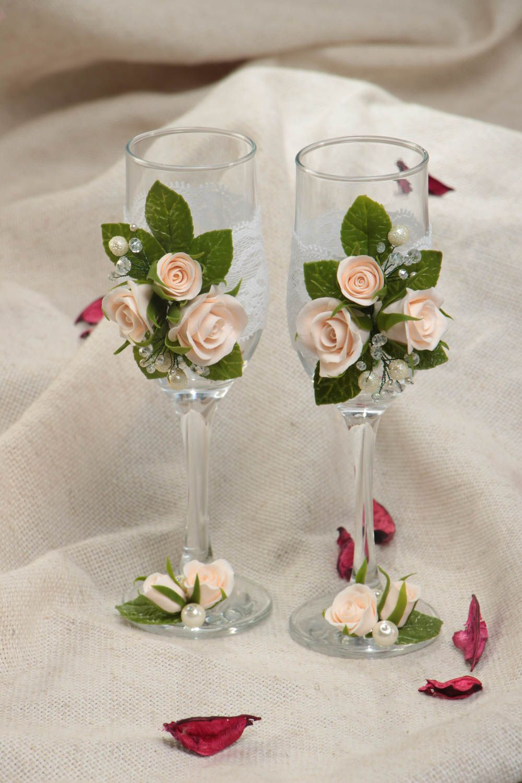 madeheart copas de boda artesanales con rosas originales bonitas hechas a mano 2 piezas. Black Bedroom Furniture Sets. Home Design Ideas