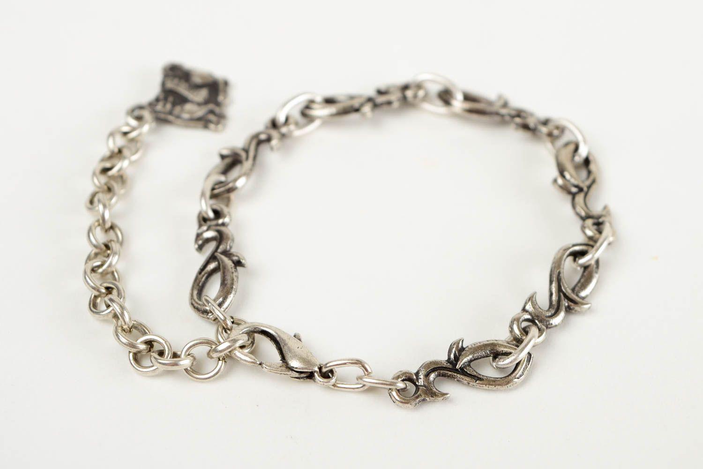 Thin handmade metal bracelet womens bracelet ideas handmade accessories photo 5