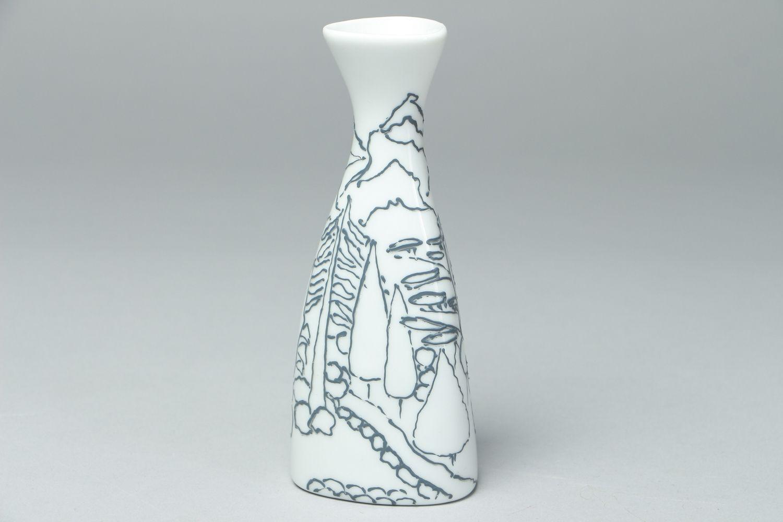 Beautiful painted glass flower vase photo 1