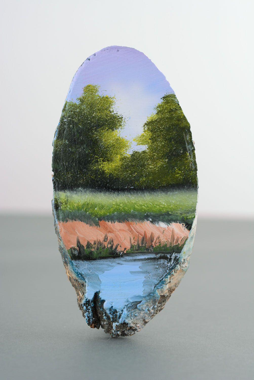 Homemade fridge magnet On the River photo 1