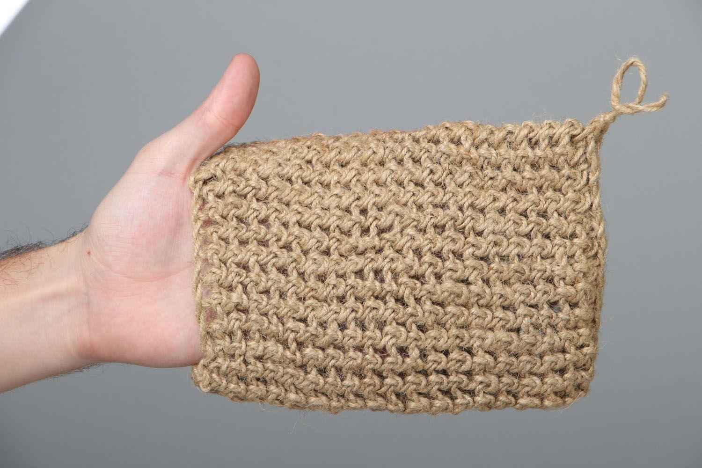 Crocheted body scrubber photo 4