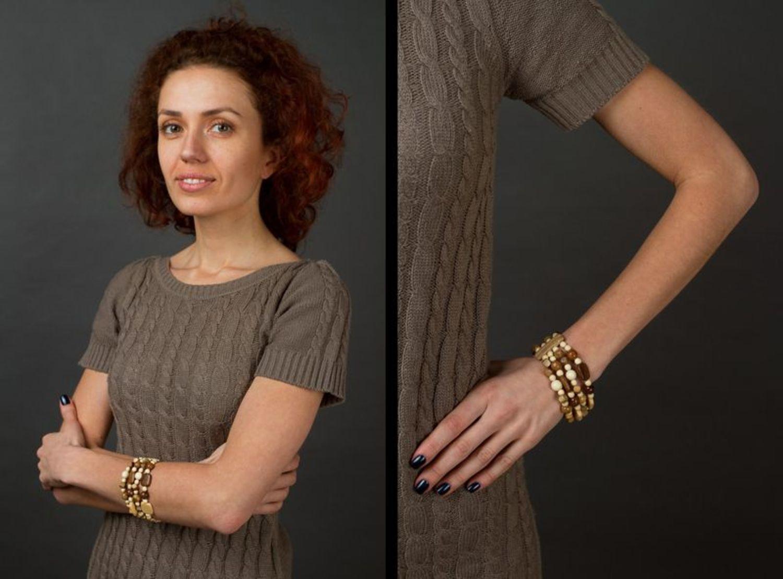 Wooden multi-row bracelet photo 6