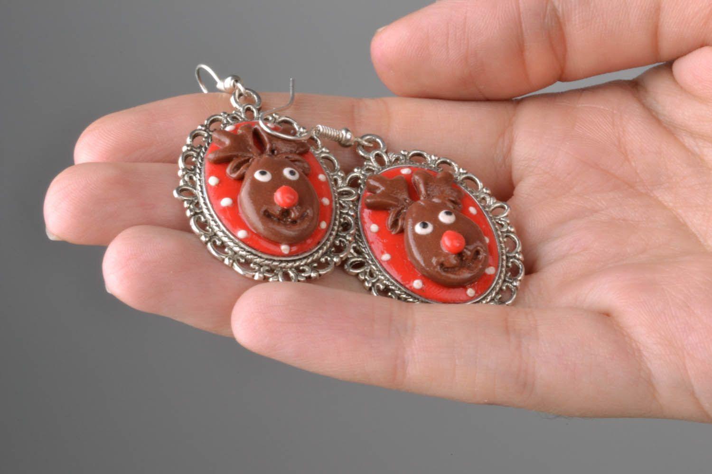Homemade earrings Deer photo 2