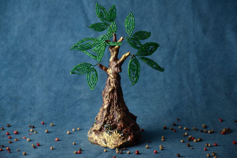Homemade desktop statuette beaded tree topiary photo 1