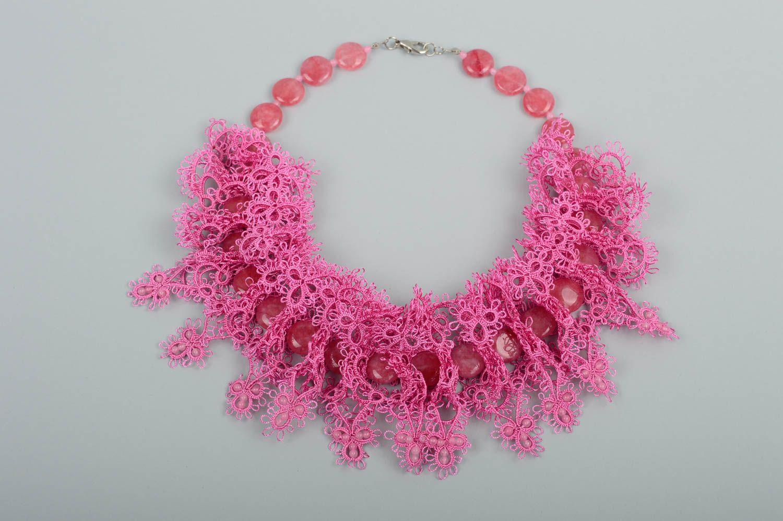 7d55db1ce895 joyería de Tela Collar hecho a mano de encaje frivolité bisutería de moda  accesorio para mujeres