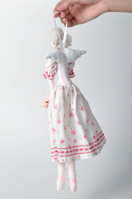 Interior doll made of natural fabrics photo 5