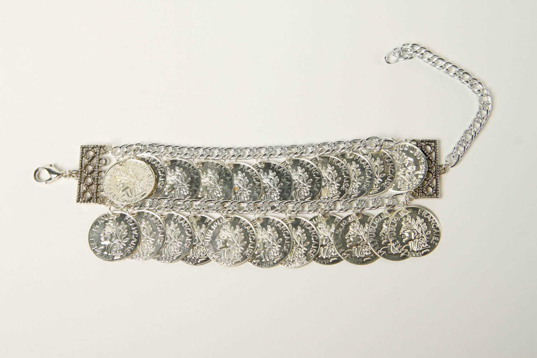 Metal bracelet handmade coin bracelet stylish jewelry fashion bracelet photo 3
