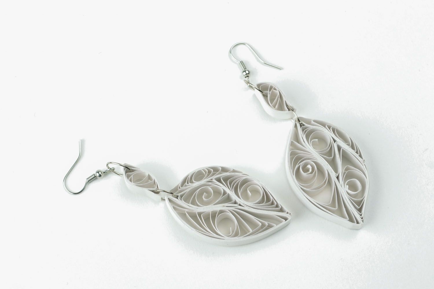White paper earrings photo 4