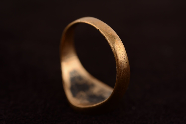 Homemade bronze seal ring photo 5