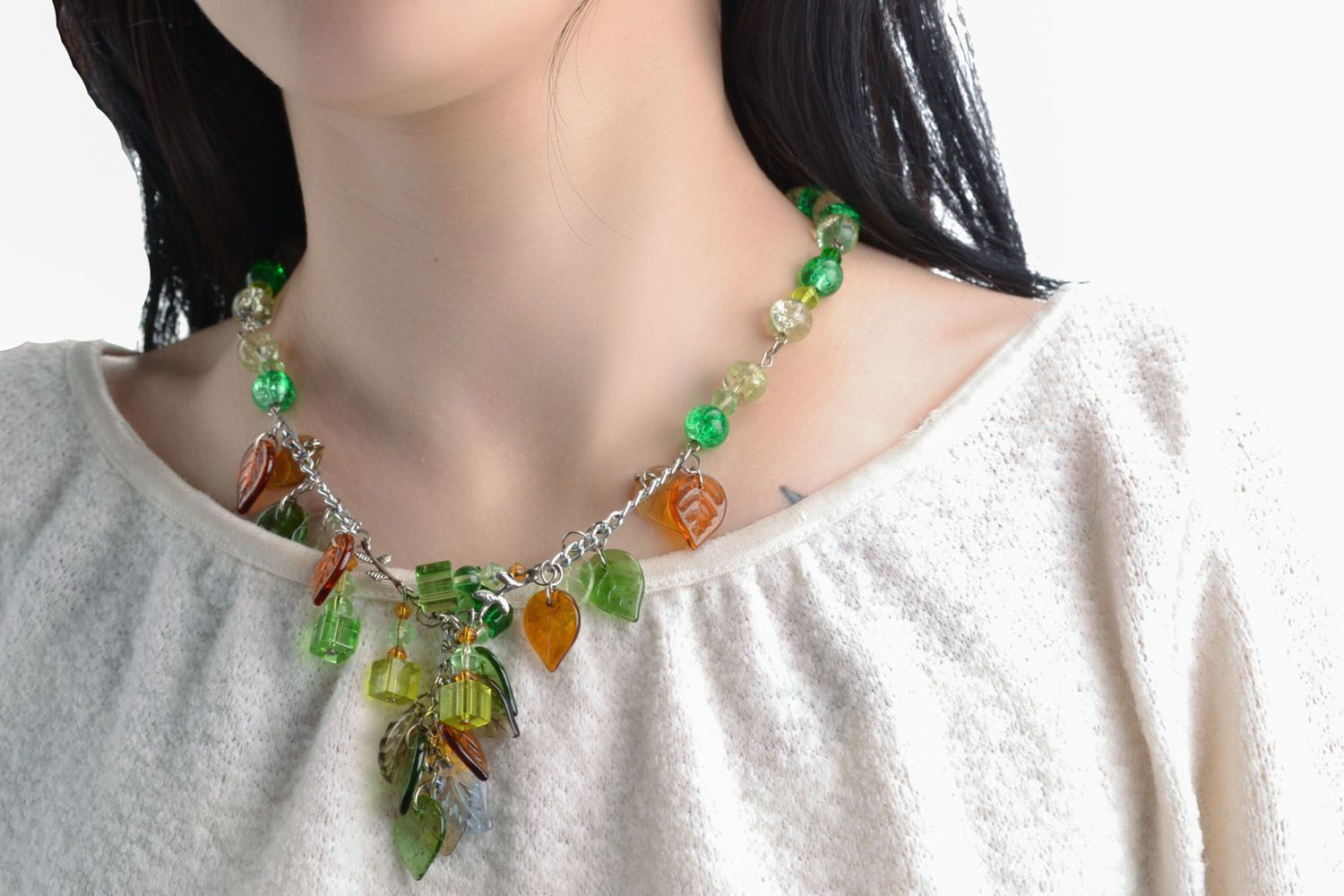 Beautiful necklace with charms photo 5