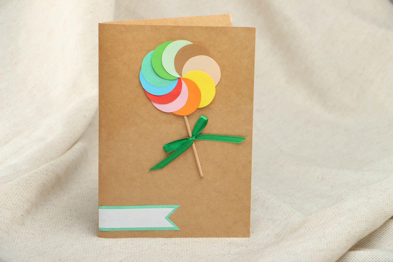 Открытка из картона цветного 66