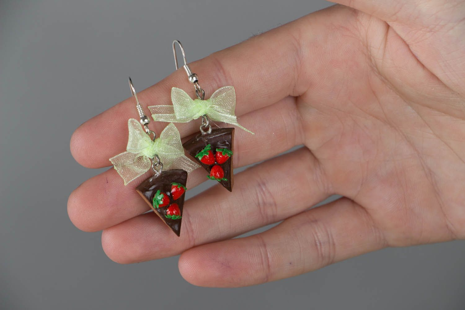 Polymer clay earrings Candies photo 4