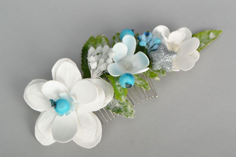 Unusual flower comb photo 1