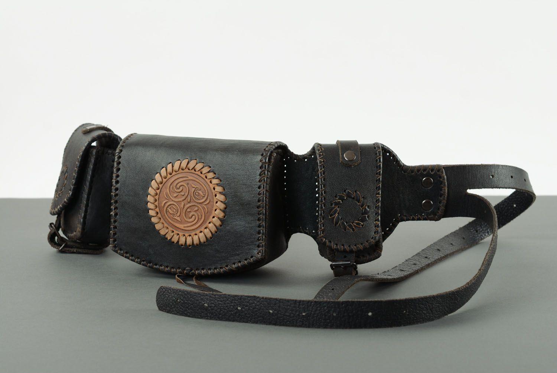 Men's leather belt bag photo 4