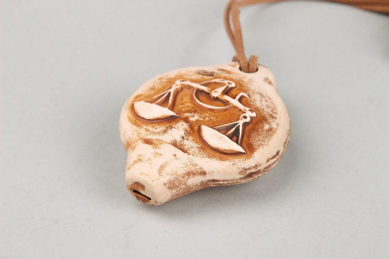 Ceramic tin whistle sign of Zodiac Libra photo 5