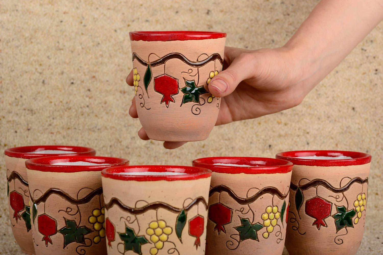Ensemble de verres fait main Verres à eau Vaisselle design belle originale photo 5