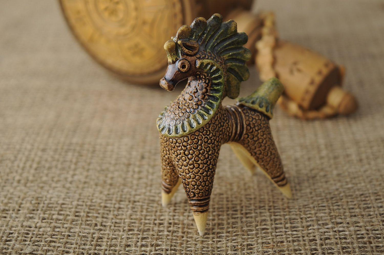 Ceramic penny whistle Horse photo 2