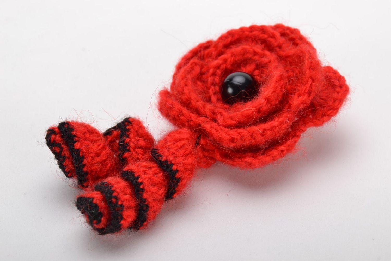 Homemade crochet brooch photo 2