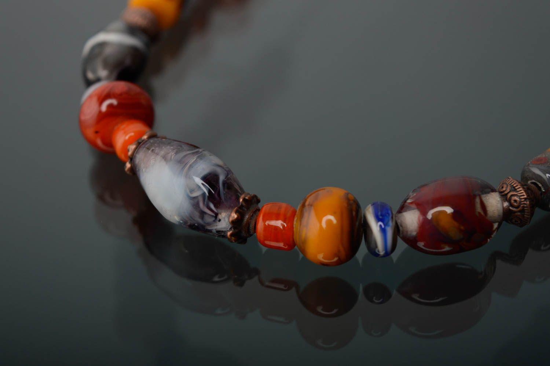 Handmade lampwork necklace Masha photo 4