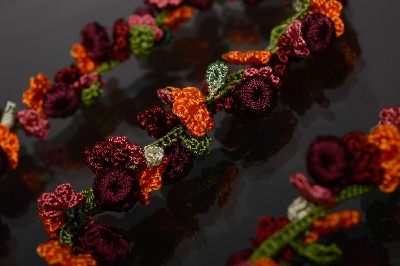Handmade crochet necklace Blooming Garden photo 4