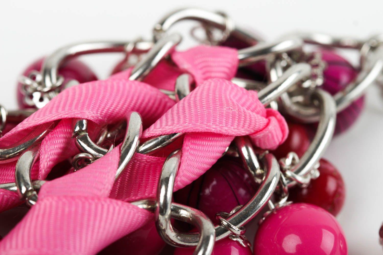 Handmade Schmuck Accessoire für Frauen Armband Damen Mode Schmuck rosa foto 5