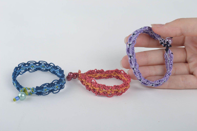 pulseras textiles Pulseras originales hechas a mano accesorios de moda bisutería fina estilosa , MADEheart.