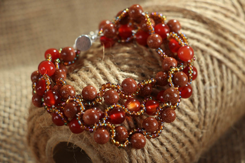 Homemade bracelet with aventurine and cornelian photo 5