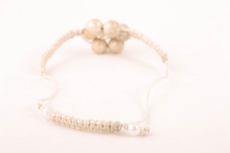 Handmade bracelet with ceramic beads and cord photo 2