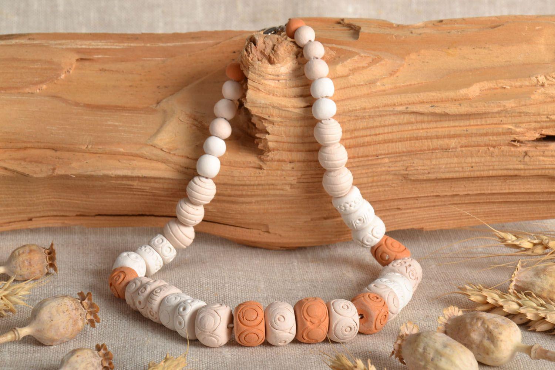 Ceramic beaded necklace  photo 1