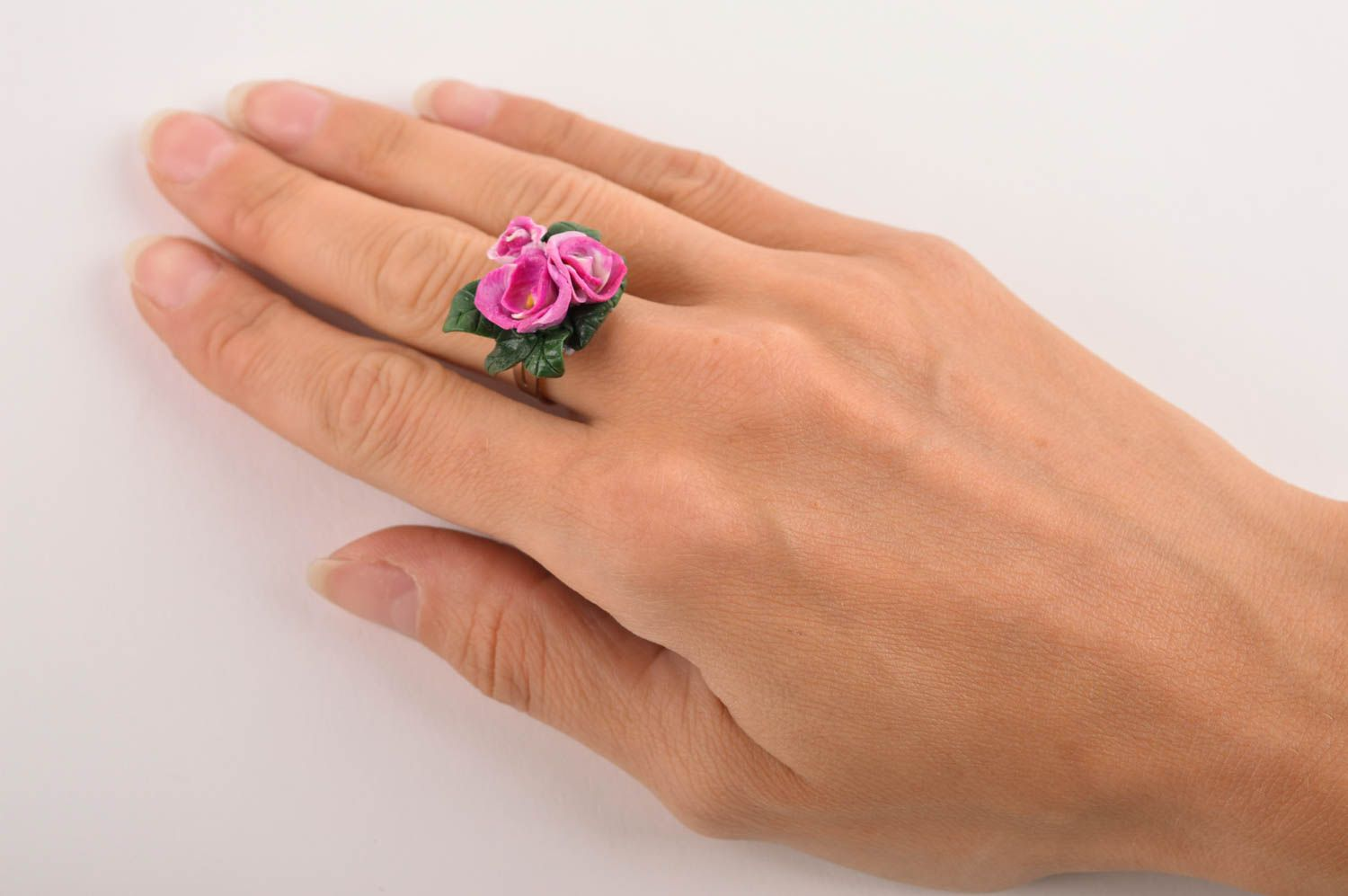 Unique ring handmade polymer clay designer ring seal ring fashion accessories photo 5