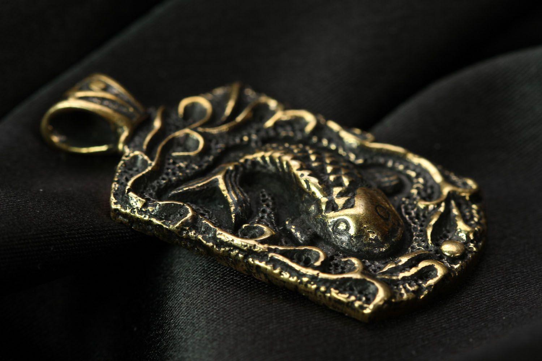 Handmade bronze pendant Fish  photo 2