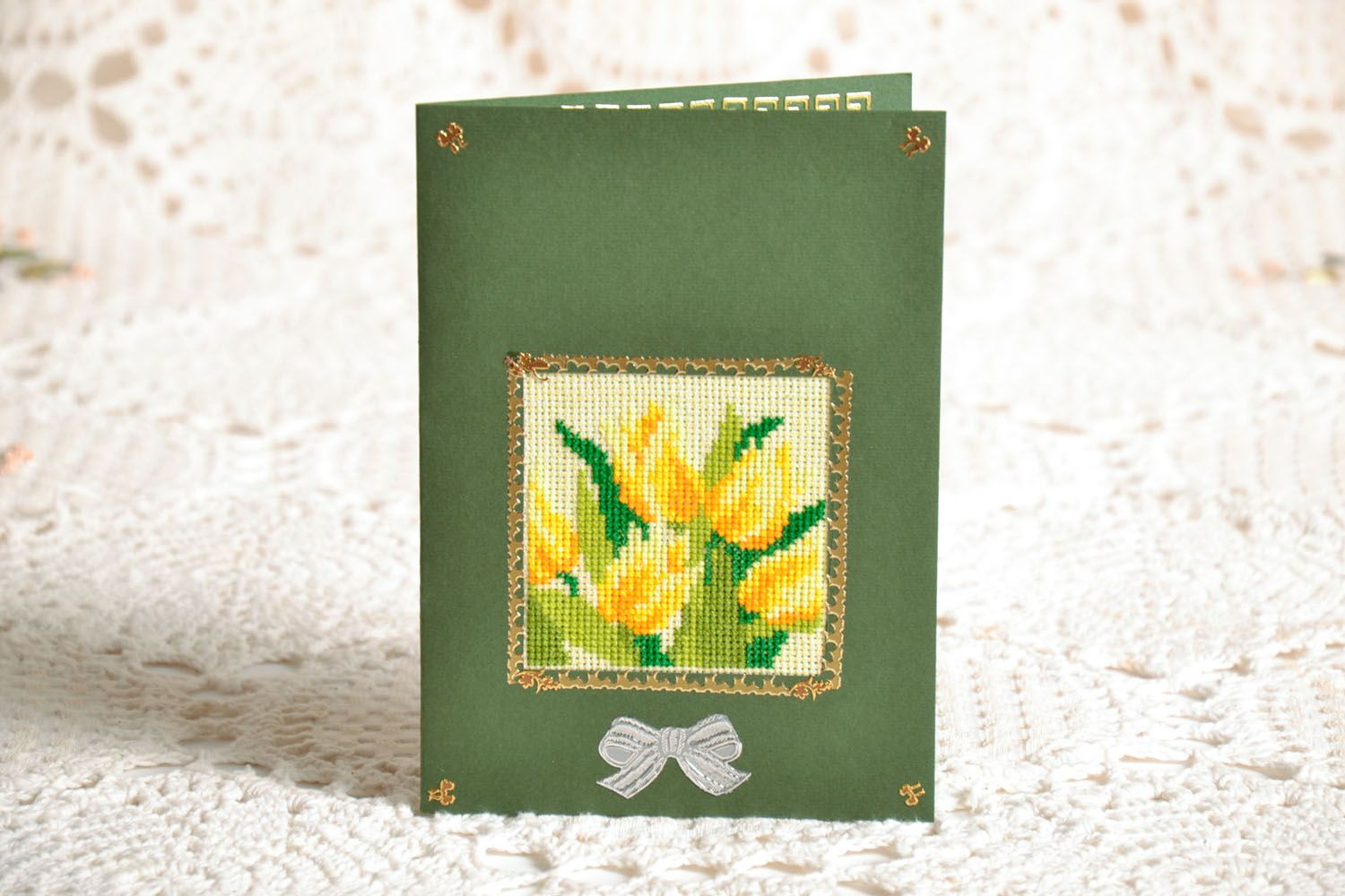 Postcard with embroidery photo 1