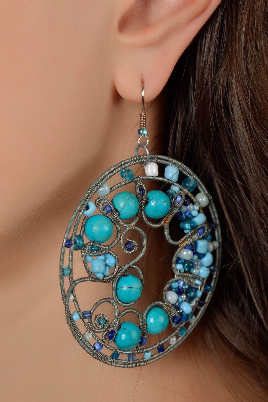 Round earrings photo 5
