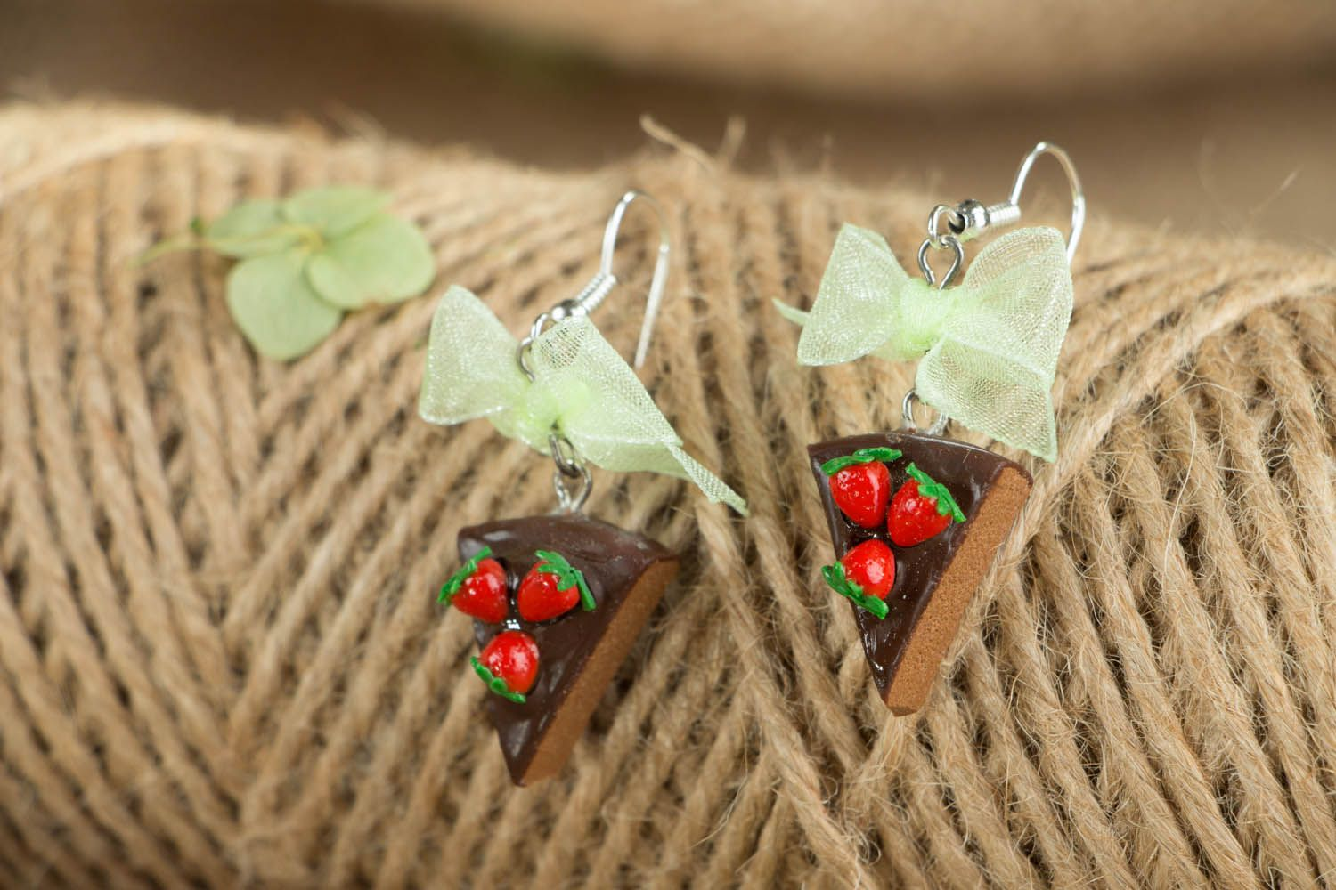 Polymer clay earrings Candies photo 3