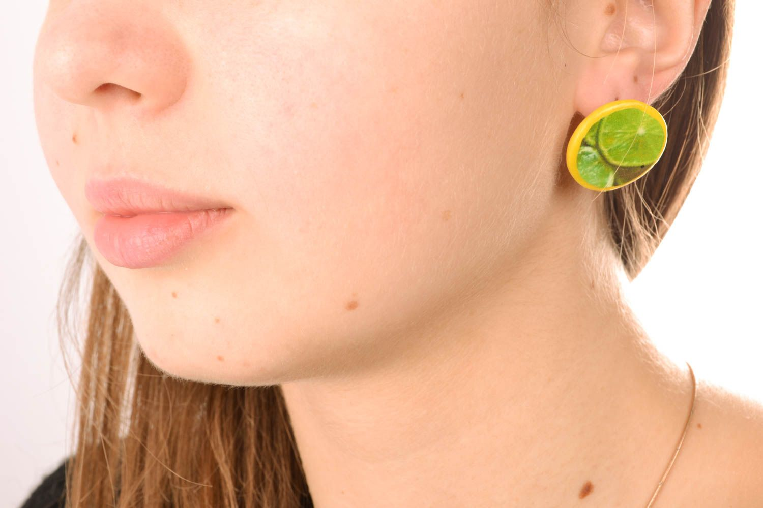 Polymer clay stud earrings photo 5