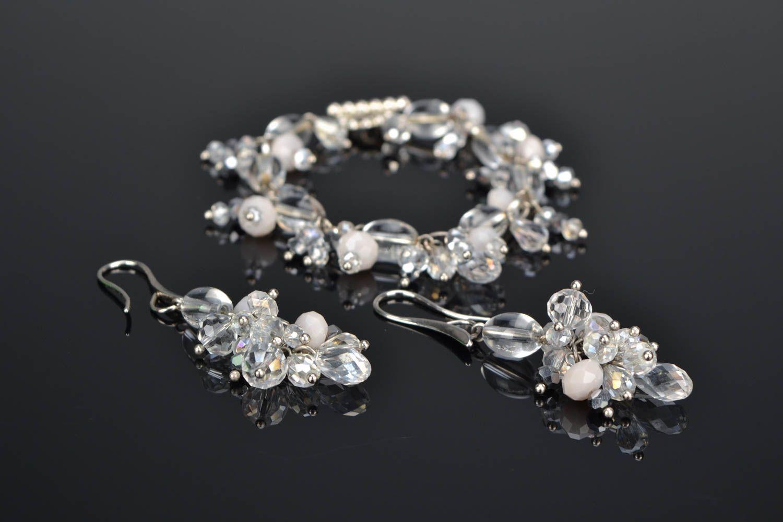Jewelry set with plastic beads photo 1