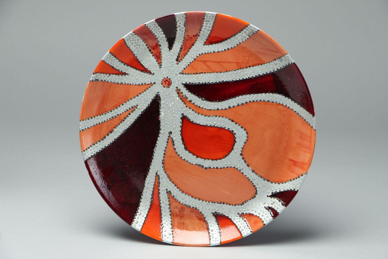 Madeheart plato decorativo de vidrio pintado - Platos decorativos pared ...