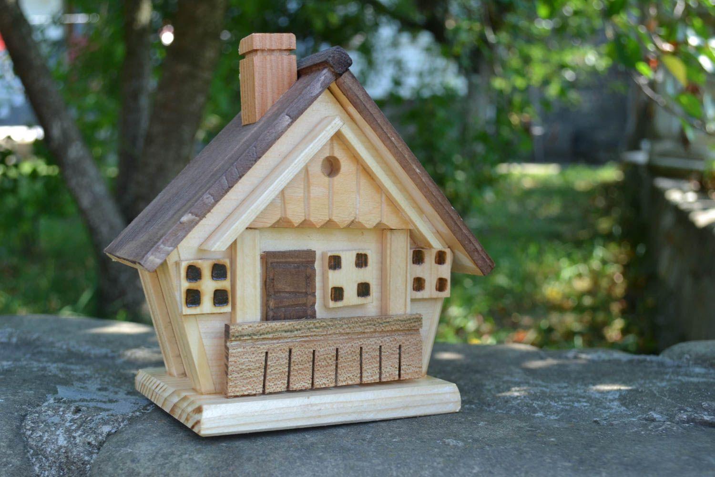 Madeheart handmade holz spardose deko element wohn for Holz deko haus