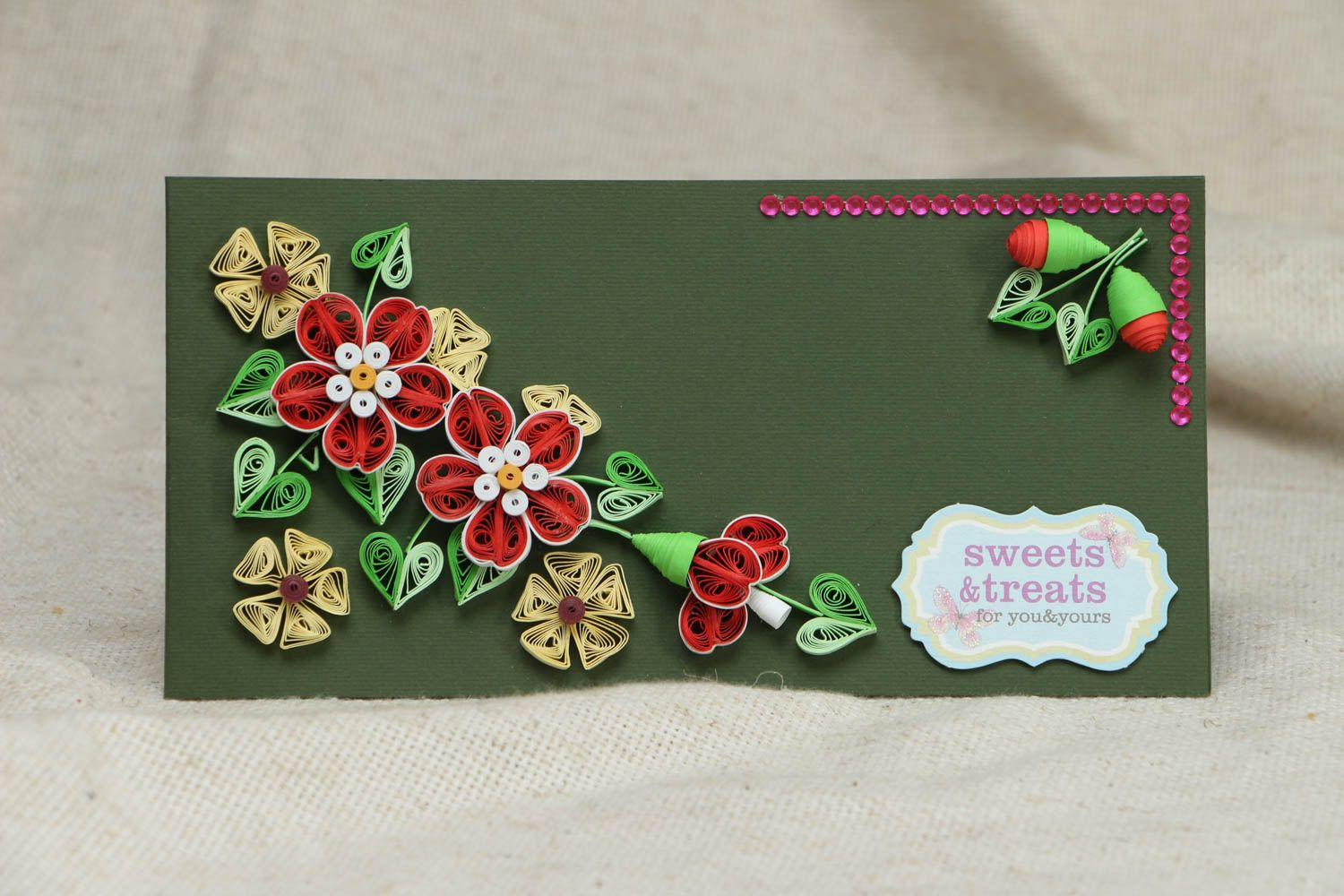 Quilling greeting card photo 1