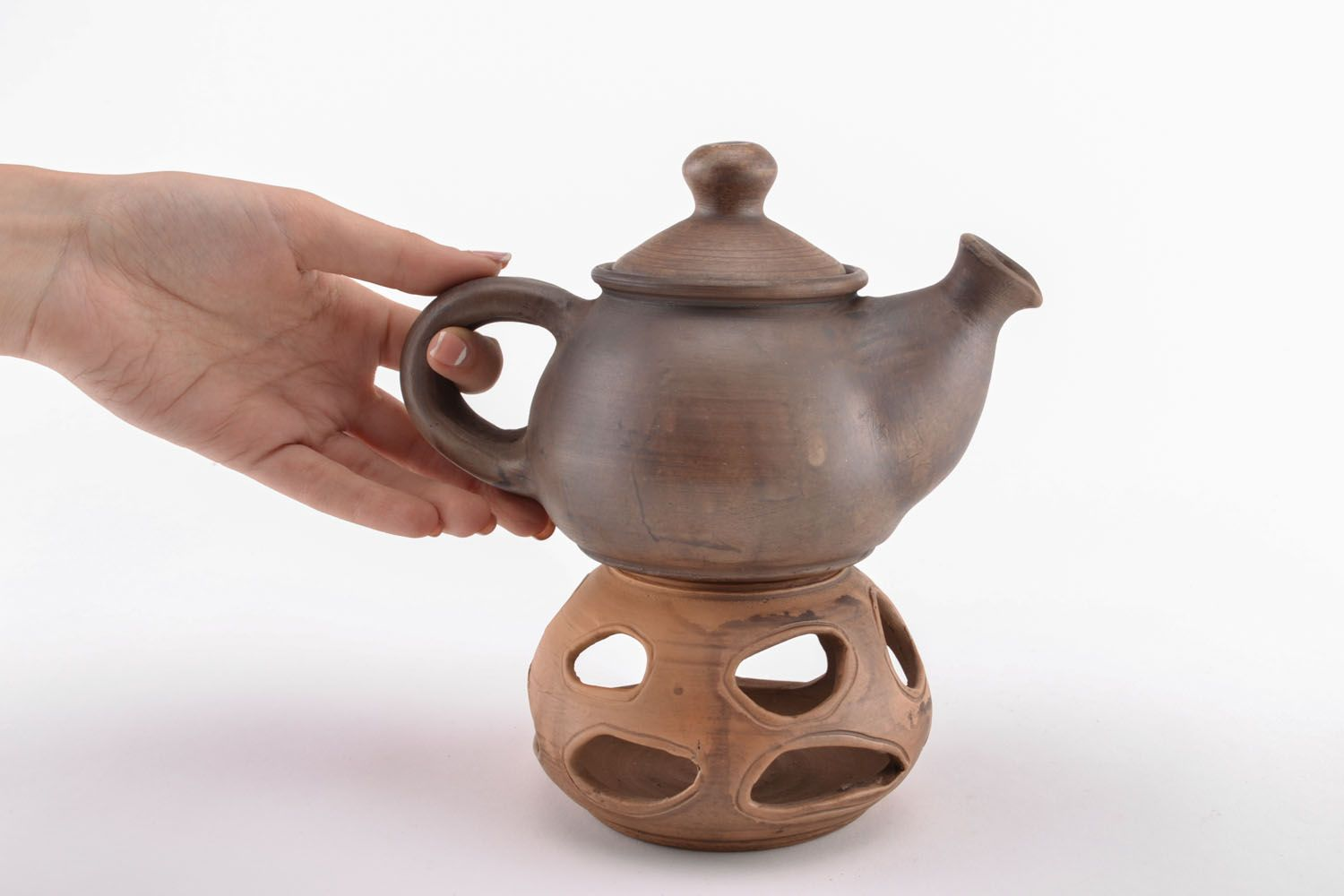 tea pots and coffee pots Teapot with candle heating - MADEheart.com